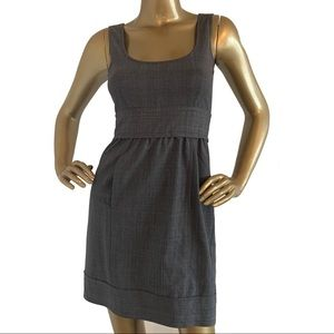 Theory Gray Plaid Wool Blend Career Dress Size 0